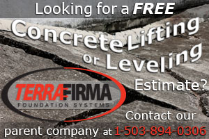 Free Estimates for concrete lifting and leveling from our parent company, Terra Firma